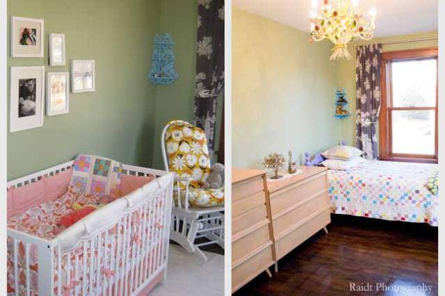 Girls' Bedroom Before and After