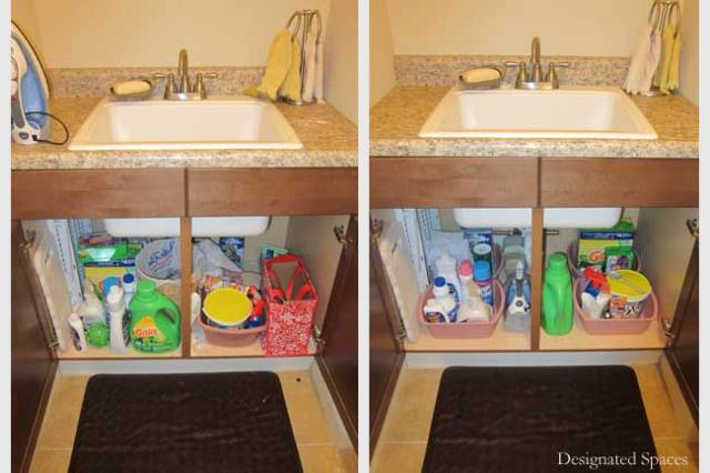 Laundry Base Cabinets Before and After