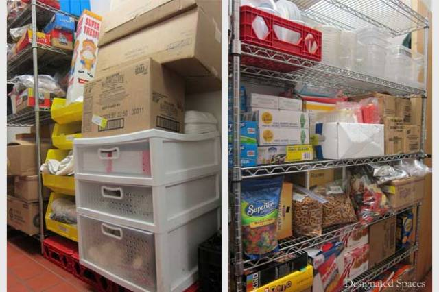 Food Pantry Storage Before and After