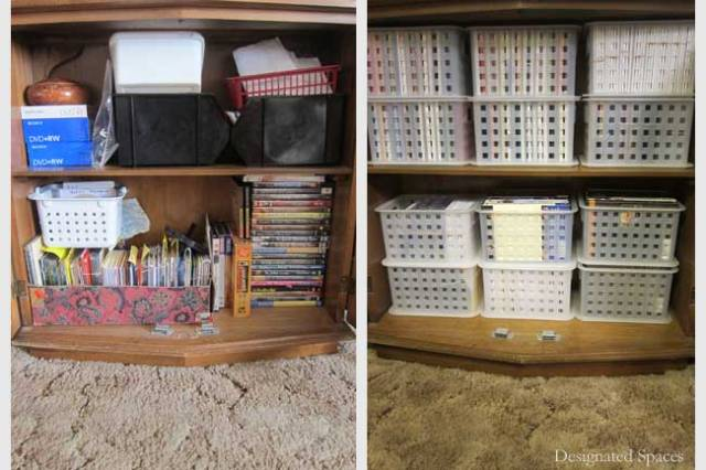 Entertainment Storage Cabinet Before and After