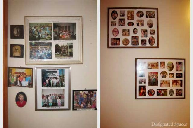 Family Photo Collage Before and After