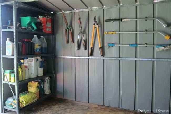 Storage shed organization part 2 designated spaces for Garden shed organisation