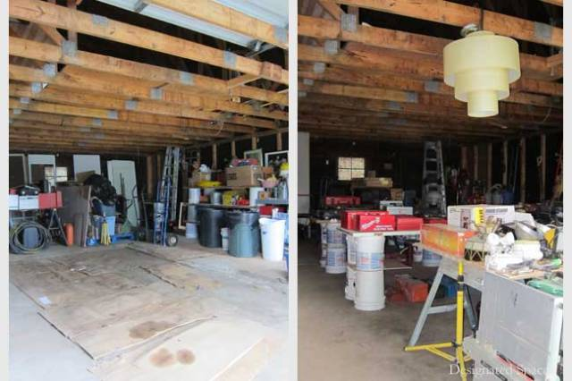 Garage Sale Organization Before and After