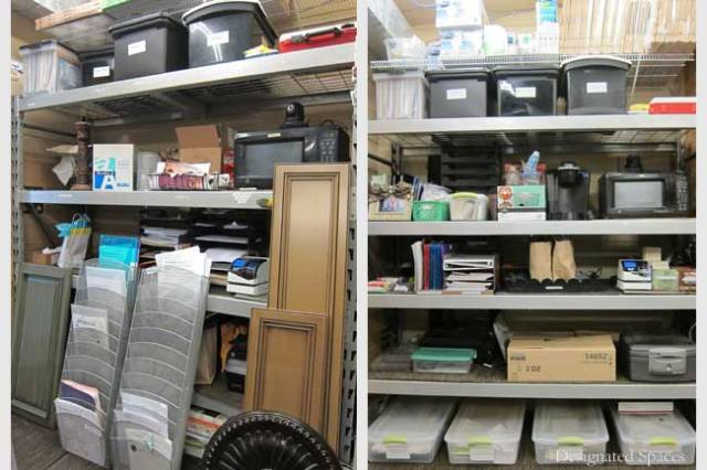 Office Storage Shelf Before and After