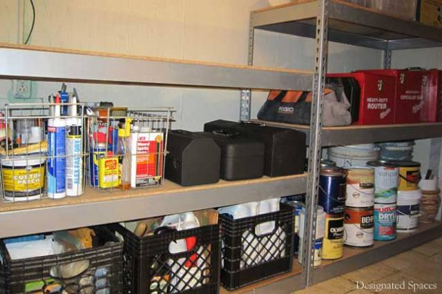 Tool Storage Shelves After