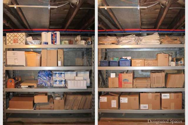 Cash Wrap Supply Storage Shelf Before and After