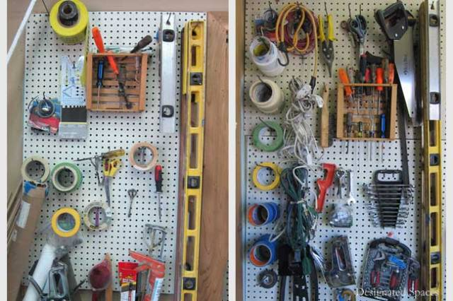 Studio Supply Pegboard Before and After